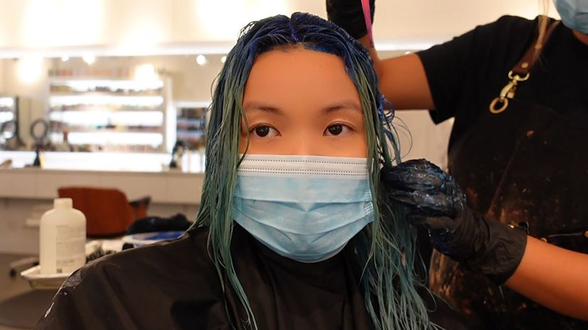 Pandemic Hair Colour . Go to a video page.